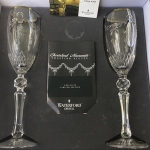 Waterford Crystal Platinum Banded Toasting Flutes